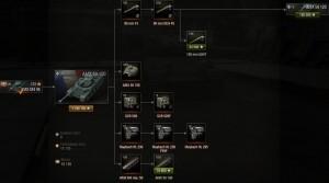 Дерево исследования AMX 50-100